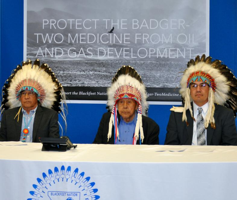 Blackfeet Tribe representation at kickoff of new campaign.